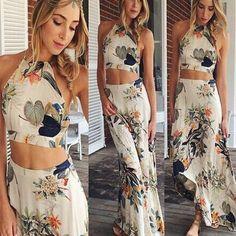2015 estilo verão passarela celebridade Backless Top Vestido definir profunda impressão Vestido Floral Vestido Verao Sexy Vestido grátis Shippin em Vestidos de Roupas e Acessórios Femininos no AliExpress.com | Alibaba Group