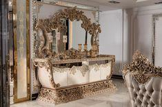 Luxury Dining Room, Buffet, Mirror, Furniture, Home Decor, Decoration Home, Room Decor, Mirrors, Home Furnishings