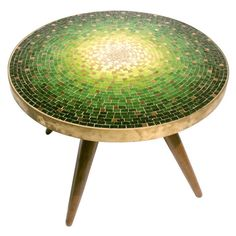 View this item and discover similar for sale at - Venetian Mosaic-Top Table by Vladimir Kagan/Kagan Dreyfuss. USA, circa A Low Ocaissonal Table by Vladamir Kagan for Kagan-Dreyfuss. Mosaic Diy, Mosaic Crafts, Mosaic Projects, Mosaic Glass, Mosaic Tiles, Mosaic Patio Table, Round Patio Table, Mosiac Table Top, Mosaic Furniture