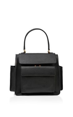 Black leather bag by MARNI.