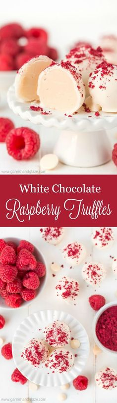 With just 5 ingredients, make the most amazing melt-in-your-mouth White Chocolate Raspberry Truffles to delight in this holiday season. (really cool desserts) Chocolate Bonbon, White Chocolate Raspberry, Chocolate Truffles, Chocolate Bars, Chocolate Snacks, Chocolate Delight, Chocolate Blanco, Chocolate Covered, Candy Recipes