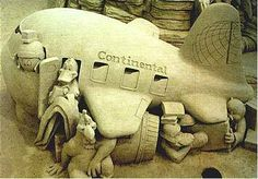 Loony Tune Plane Picture of sand art