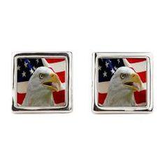 Bald Eagle Cufflinks> Lisa Williams Art