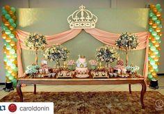 Decoracion de niña Royal Princess Birthday, Baby Shower Princess, Princess Party, Balloon Decorations, Table Decorations, Popcorn Bar, Backdrop Design, Candy Table, Backdrops