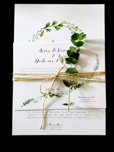 Wedding invitation stationary Eucalyptus white and green rustic wedding by Dieke de Vries