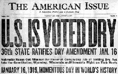 Prohibition and the Eighteenth Amendment