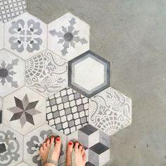 Mustermix, Mosaik, Kacheln, Fliesen, Grau, Stein, Fußboden