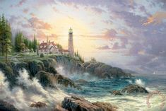 Clearing Storms Painting by Thomas Kinkade