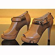 Leatherette Women's Stiletto Heel Peep Toe He... – GBP £ 33.01