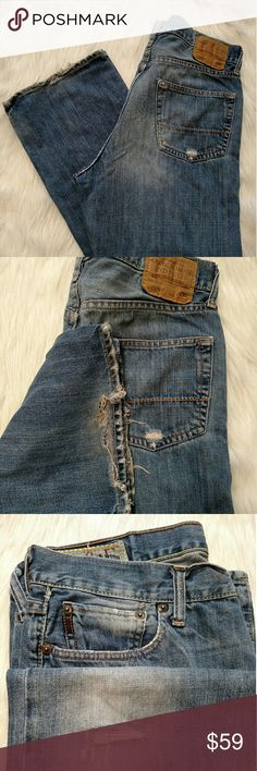 Abercrombie and Fitch boot cut regular wash jeans 33x32 jeans from AF.  Tattered look, but not too bad. Abercrombie & Fitch Jeans Bootcut