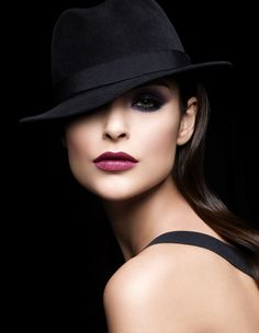 black hat and make-up