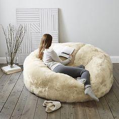 Long Haired Sheepskin Family Beanbag from The White Company Bean Bag Bed, Bean Bag Chair, Bean Bags, Bedroom Inspo, Bedroom Decor, Bedroom Ideas, Fancy Bedroom, Le Cloud, The White Company