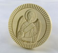 Stamp For The Holy Bread Orthodox Liturgy. Butter Molds, Orthodox Christianity, Baking Accessories, St Michael, Byzantine, Wood Carving, Holi, Greek, Stamps