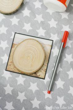 Instagram Wood Slice Christmas Ornament
