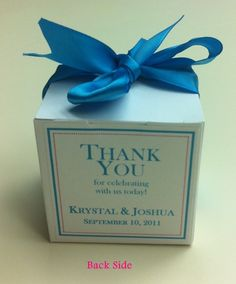 100 personalized favor boxes for under $20! ...Link to Template Works Now... :  wedding blue brown candy cheap diy easy favors gifts inspiration pink reception silver teal white Favor Pic 3   Final