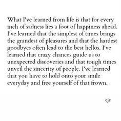 I've learned......