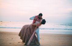 "Photo from Flashbakc Studios ""Neha & Gursimran"" album Indian Wedding Outfits, Wedding Dresses, Lehenga Wedding, Lehenga Saree, Groom Wear, Sherwani, Mehendi, Goa, Groomsmen"