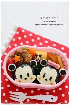 Mickey and Minnie onigiri
