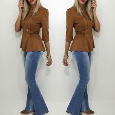 Veludo estará muito em alta nessa temporada outono/inverno! Disponíveis a blusa e calça flare . Compre pelo site http://ift.tt/PYA077