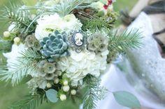 wedding bouquet , portland style, rustic, woodland, put a bird on it, bird nest bouquet, balsa sola wood flowers, brooch, succulent, air plant, tilladsia  www.sophisticatedfloral.com http://www.juliewilmes.com/