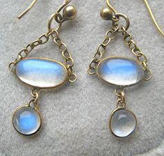 moonstone earrings circa 1880