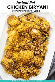 Easy Chicken Biryani Recipe, Indian Chicken Recipes, Easy Indian Recipes, Ethnic Recipes, Authentic Indian Recipes, Biryani Chicken, Best Instant Pot Recipe, Instant Pot Dinner Recipes, Rice On The Stove