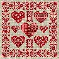 free cross stitch heart patterns - Google Search