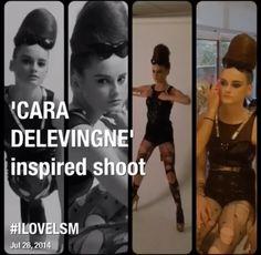Cara Delevigne inspired shoot @lsm
