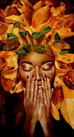 "fyblackwomenart: ""perfume by Maratamara "" Black Love Art, Black Girl Art, Art Girl, African Art Paintings, Black Art Pictures, Black Artwork, Foto Art, African American Art, Hair Art"