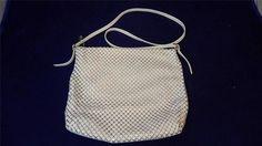 True VTG Whiting & Davis White Metal Mesh Handbag Purse