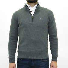 MCS Marlboro classics Maglia con zip uomo misto lana grigio jumper man grey 4760