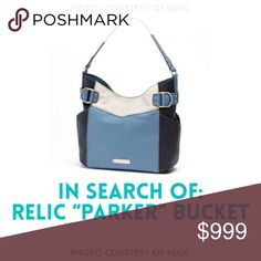 "ISO: Relic ""Parker"" Bucket Bag, Blue Looking specifically for the ""bucket"" version of this bag, rather than the cross-body or double-strap models. If you have one to sell or trade, please let me know! This exact item only, blue only. Must be NWT or NWOT. Thanks for your help! Relic Bags"