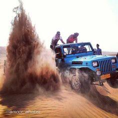 "Sandstorm Jeep Style ! by @amoor_alhabsi ""#bediya#Jeep#teem#the#best#day"" #jeepbeef #Padgram"