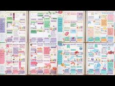 Six Months of Erin Condren Life Planner Layouts! - YouTube