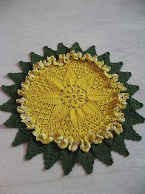 Crochet Sunburst Doily Pattern