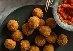 Ricotta and Sage Fried Meatballs  These little show-stoppers will incite a fried food frenzy–even though they're baked on party night.