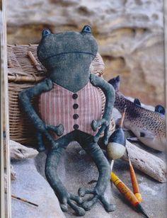 Чердачные мягкие игрушки своими руками. Лягушки