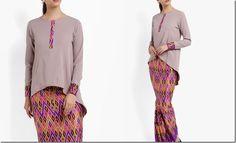 Baju Raya 2017 Idea: ash-high-low-batik-sarawak-style-kurung