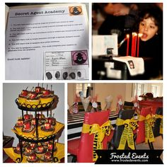Spy Theme Party- Frosted Events www.frostedevents.com @Frosted Events Kids party ideas and inspiration