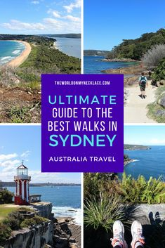 The best way to truly explore Sydney in my opinion is by walking - and there are so many incredible Sydney walks and hikes to choose from. I put together this epic list of the best walks in Sydney - coastal, inland, urban, native bush and more. Check it out and start planning which Sydney hikes you are going to do. | The World on my Necklace #sydney #sydneywalks #sydneyhikes #hike #nsw Sydney Australia Travel, Australia Beach, Visit Australia, Queensland Australia, Western Australia, Brisbane Queensland, Melbourne, Sydney Beaches, Sydney City