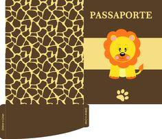Convite passaporte Safari grátis para impressão