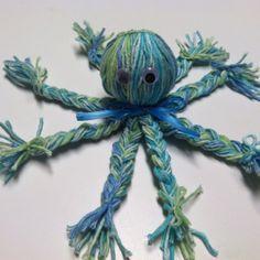 """""""yarn craft day"""" Octopus A simple little yarn craft,"""