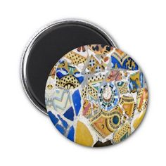 """SOLD  25 copies of this """"Gaudi Yellow Tiles magnet"""", to a customer in France :)  http://www.zazzle.com/gaudi_yellow_tiles_magnet-147945441564259853?rf=238785087520234895"""