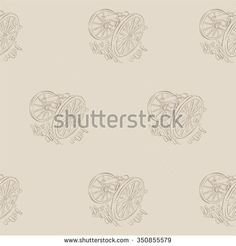 Vintage canons pattern - stock vector