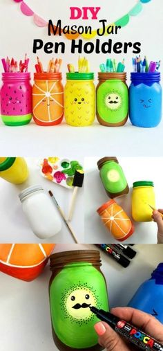 Turn your mason jar into a fun fruit!