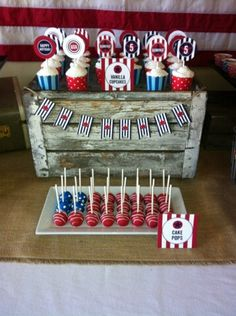 Cute patriotic party set up!