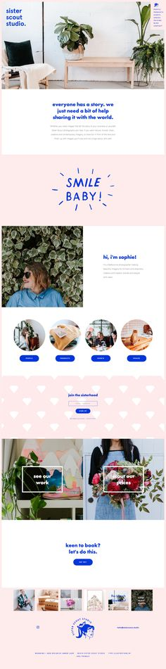 Website design for Sister Scout Studio | By Amber Ladd Studio www.sisterscout.studio