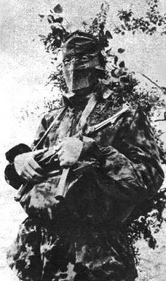 SS soldier in camouflage