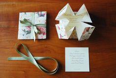 Resultado de imagem para partecipazioni matrimonio origami