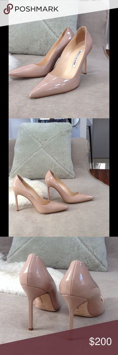 "Authentic Manolo Blahnik Patent Pumps Gorgeous! Literally worn twice. 4"" heel. Manolo Blahnik Shoes Heels"